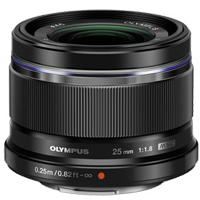 Olympus M.Zuiko Digital 25mm F1.8 Lens Black (1 YEAR WARRANTY)
