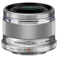 Olympus M.Zuiko Digital 25mm F1.8 Lens Silver (1 YEAR WARRANTY)