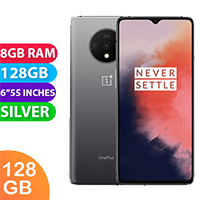 UNLOCKED New OnePlus 7T Dual Sim 128GB 8GB RAM Smartphone Silver (FREE DELIVERY + 1 YEAR WARRANTY)