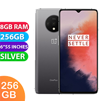 UNLOCKED New OnePlus 7T Dual Sim 256GB 8GB RAM Smartphone Silver (FREE DELIVERY + 1 YEAR WARRANTY)