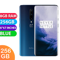 UNLOCKED New OnePlus 7T Pro Dual Sim 256GB 8GB RAM Smartphone Blue (FREE DELIVERY + 1 YEAR WARRANTY)