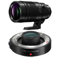 New Panasonic Leica DG Elmarit 200mm f/2.8 POWER O.I.S. Lens With DMW-TC14 1.4x Teleconverter (FREE DELIVERY + 1 YEAR WARRANTY)