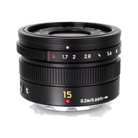 New Panasonic Leica DG SUMMILUX 15mm/F1.7 ASPH Black Lens (FREE DELIVERY + 1 YEAR WARRANTY)