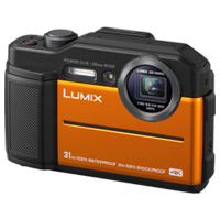 New Panasonic Lumix DC-TS7 Digital Cameras Orange (FREE DELIVERY + 1 YEAR WARRANTY)
