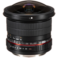 New Samyang 12MM F/2.8 ED AS NCS Fisheye Lens for Canon (FREE DELIVERY + 1 YEAR WARRANTY)