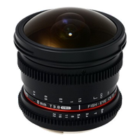 New Samyang 8mm T3.8 Asph IF MC Fisheye CS II VDSLR Lens for Samsung (FREE DELIVERY + 1 YEAR WARRANTY)