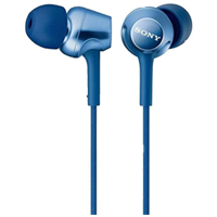 Sony MDR-EX250 In-ear Stereo Headphone Blue (1 YEAR WARRANTY)