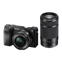 New Sony Alpha A6100 with 16-50mm and 55-210mm Lens Digital SLR Camera (FREE DELIVERY + 1 YEAR WARRANTY)