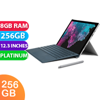 New Microsoft Surface Pro 6 i7 8GB RAM 256GB Platinum (FREE DELIVERY + 1 YEAR WARRANTY)