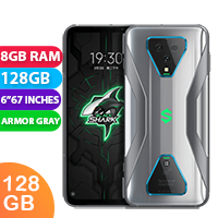 UNLOCKED New Xiaomi Black Shark 3 128GB 8GB RAM 5G Smartphone Armor Gray (FREE DELIVERY + 1 YEAR WARRANTY)