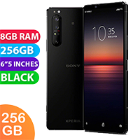 UNLOCKED New Sony Xperia 1 II Dual SIM 256GB 8GB RAM 5G Smartphone Black (FREE DELIVERY + 1 YEAR WARRANTY)