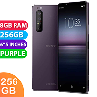 UNLOCKED New Sony Xperia 1 II Dual SIM 256GB 8GB RAM 5G Smartphone Purple (FREE DELIVERY + 1 YEAR WARRANTY)
