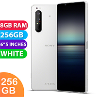UNLOCKED New Sony Xperia 1 II Dual SIM 256GB 8GB RAM 5G Smartphone White (FREE DELIVERY + 1 YEAR WARRANTY)