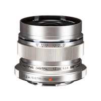 New Olympus M.ZUIKO DIGITAL ED 12mm f2.0 Lens Silver (FREE DELIVERY + 1 YEAR WARRANTY)