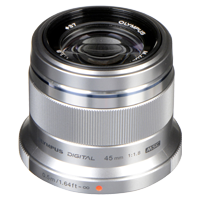 New Olympus M.Zuiko Digital ED 45mm F1.8 Lens Silver (FREE DELIVERY + 1 YEAR WARRANTY)