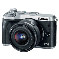 New Canon EOS M6 kit (15-45mm) Digital Cameras Silver (FREE DELIVERY + 1 YEAR WARRANTY)