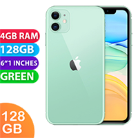 UNLOCKED New Apple iPhone 11 128GB Dual SIM 4G LTE Smartphone Green (FREE DELIVERY + 1 YEAR WARRANTY)