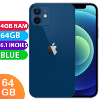 UNLOCKED New Apple iPhone 12 64GB 4GB RAM 5G LTE Dual SIM Smartphone Blue (FREE DELIVERY + 1 YEAR WARRANTY)