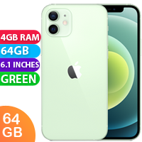 UNLOCKED New Apple iPhone 12 64GB 4GB RAM 5G LTE Dual SIM Smartphone Green (FREE DELIVERY + 1 YEAR WARRANTY)