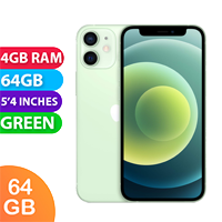 UNLOCKED New Apple iPhone 12 Mini 64GB 4GB RAM 5G LTE Dual SIM Smartphone Green (FREE DELIVERY + 1 YEAR WARRANTY)