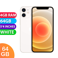 UNLOCKED New Apple iPhone 12 Mini 64GB 4GB RAM 5G LTE Dual SIM Smartphone White (FREE DELIVERY + 1 YEAR WARRANTY)