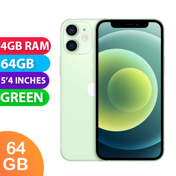 UNLOCKED New Apple Iphone 12 Mini 64GB 4GB RAM 5G LTE Smartphone Green (FREE DELIVERY + 1 YEAR WARRANTY)