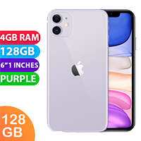 UNLOCKED New Apple iPhone 11 128GB 4G LTE Purple (FREE DELIVERY + 1 YEAR WARRANTY)