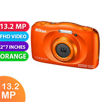 New Nikon Coolpix W150 Digital Compact Camera Orange (FREE DELIVERY + 1 YEAR WARRANTY)