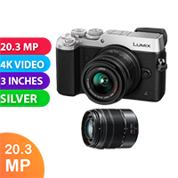 New Panasonic DMC-GX8W twin kit (14-42) (45-150) Digital Camera Silver (FREE DELIVERY + 1 YEAR WARRANTY)